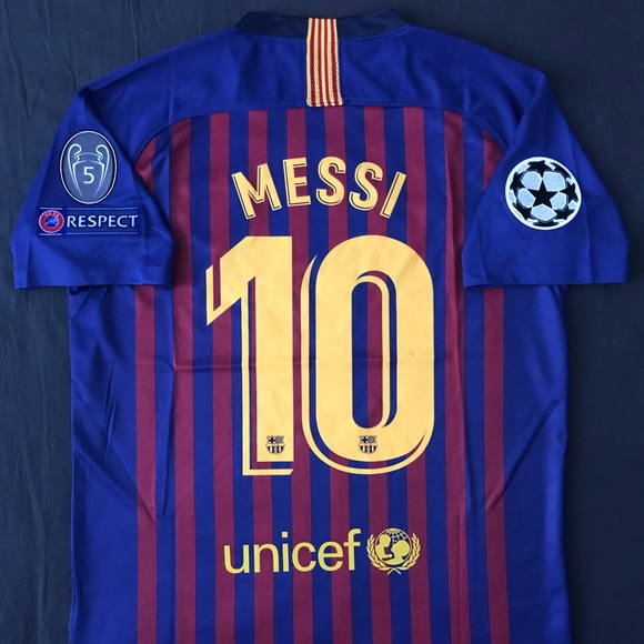 b42c0a58c2f FC Barcelona Home Jersey 2018 2019 Messi  10 Small